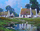 Alfred Fontville de Breanski Jnr: Irish Cottages
