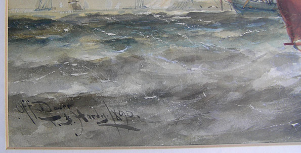 Thomas Bush Hardy 1842 1897 Off Dover For Sale
