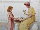 Henry Ryland painting: Gift of Roses
