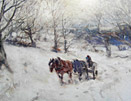David T Robertson painting Winter