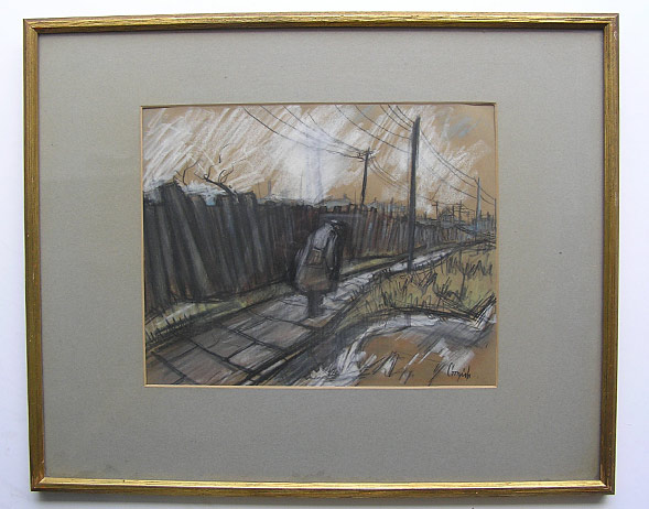 Norman Cornish painting: Returning Miner