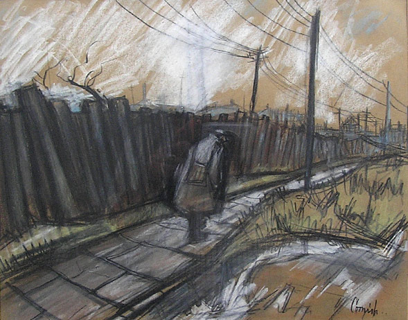 Norman Cornish original: Returning Miner