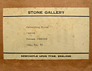 Norman Cornish Stone Gallery label