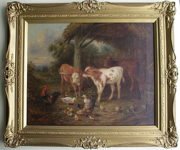 Henry Charles Bryant: Calves and hens