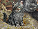 Wilson Hepple painting cat