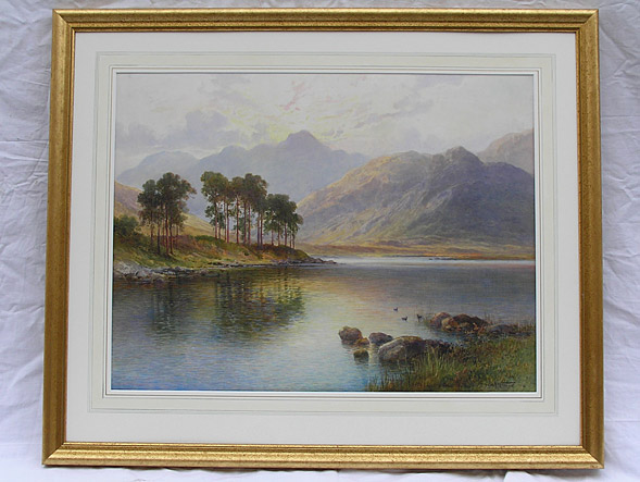 Emil Axel Krause painting of Lake District