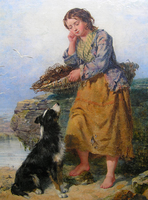 Isaac Henzell 1815 1875 Northumbrian Fisher Girl For Sale