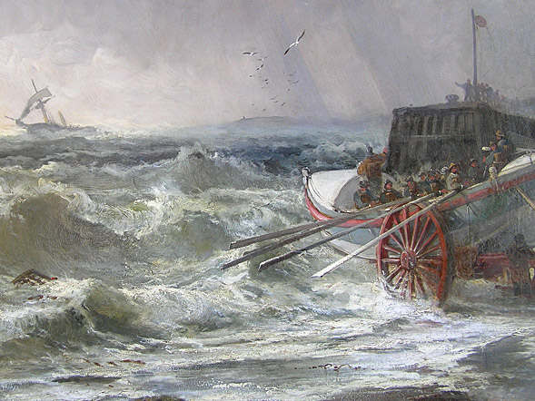 Robert Ernest Roe painting  Whitby Lifeboat