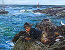 John Robertson Reid: Fishing from the Rocks