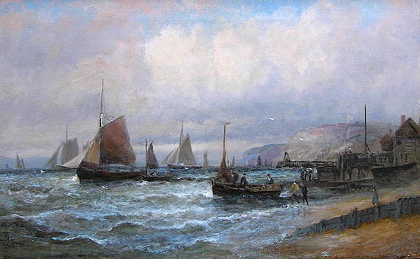 William Thornley: Fishing Boats off the Shore