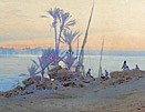 Augustus Lamplough, Sunset Nr Kous on the Nile