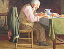 Henry Spernon Tozer painting Frugal Meal