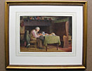 Henry Spernon Tozer framed painting Frugal Meal
