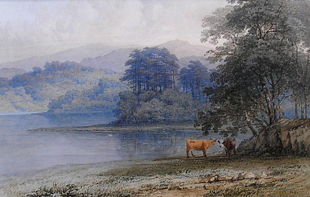 Thomas Baker: Cattle by the shore - Derwent Water