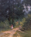 A Summer Lane.A.F.de Breanski