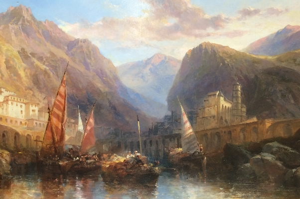 Sailing through mountain scene.J.Webb