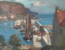 Burnmouth Harbour.J.W.Hamilton.
