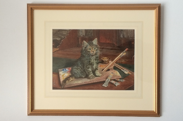 Cat in the paint. Frame. Wilson Hepple.