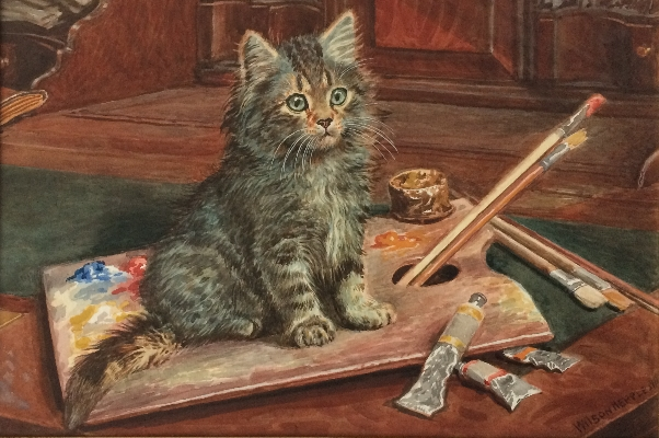 Cat and the Paint.Wilson Hepple.