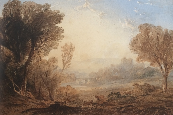 Cattle Grazing,Richmond Castle.Anthony Vandyke Copley Fielding