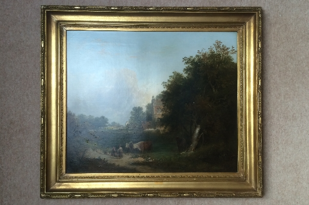 Country landscape.Frame.E.C.Williams.