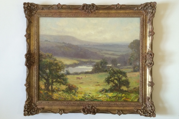 On the River Wharfe.Frame.A.W.Enness