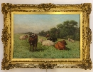 Cows in Summer.Frame.J.Dixon Clark