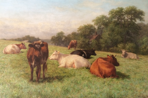Cows in Summer.J.Dixon Clark