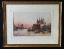 F.W.Scarbrough.Dawn on the Thames Frame.