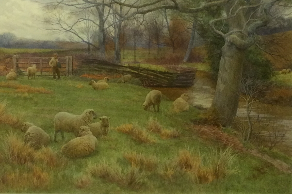 Farm Boy and his sheep.Charles Low