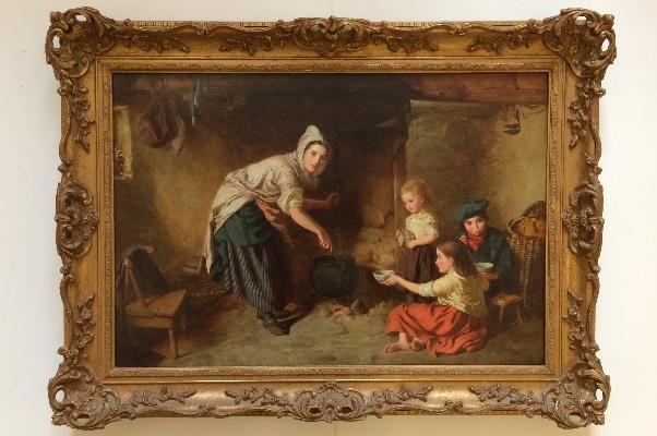 Mother feeding family.Frame.W.G.Brownlow
