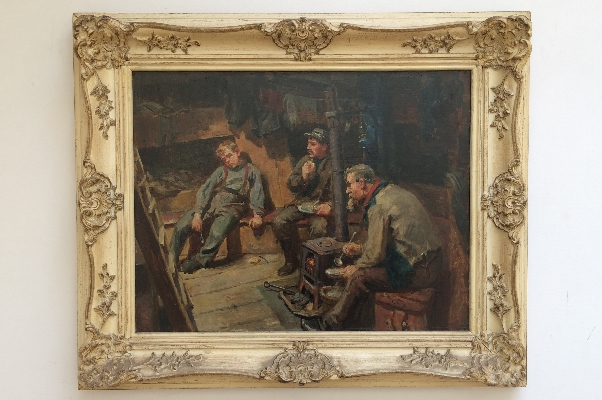 His First Voyage.Frame.Ralph Hedley
