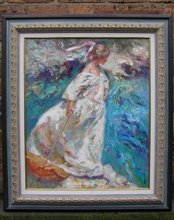 Girl with Umbrella.Frame.J.Royo
