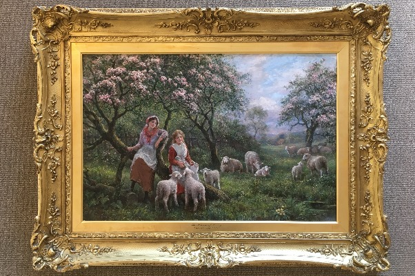The Pleasures of Spring.Frame.A.T. Haddon.