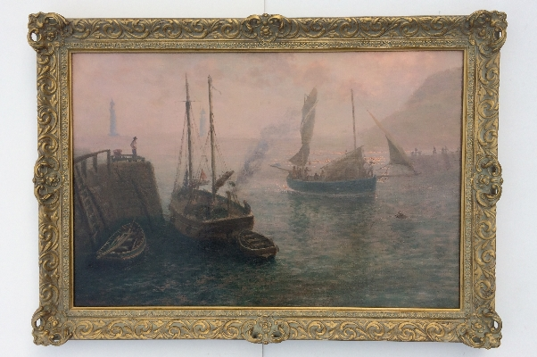 Fishing Boats in Harbour.Frame.T.Rose Milies