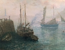 Fishing Boats in Harbour.T.Rose Milies