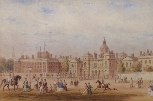 Horse Guards Parade and the Admiralty.T.H.Shepherd