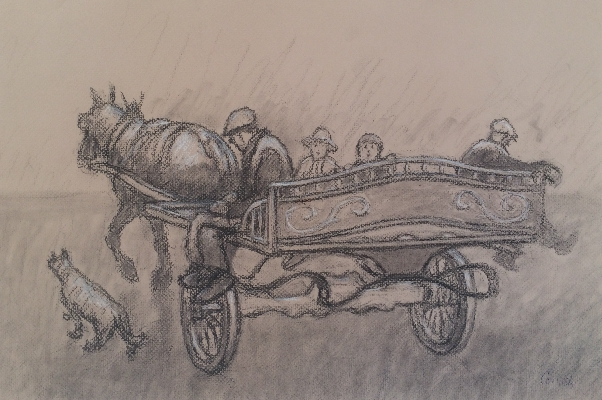 Horse and Cart.Norman Cornish