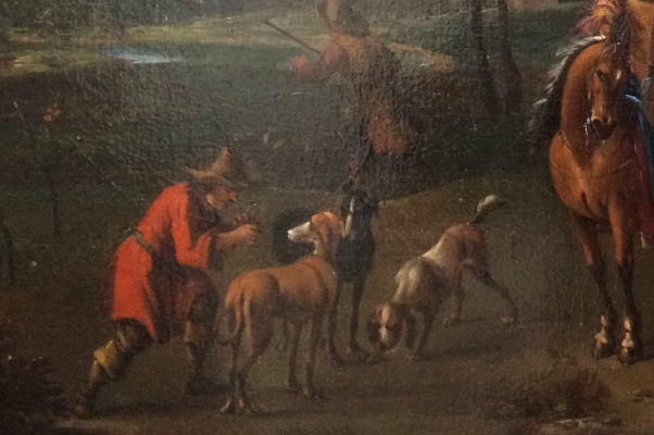 Hunting Party.Detail 2.Francis Hamers.