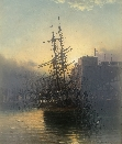 Sailing Ship at Dusk, Mouth of the Tyne.J.D.Liddell.