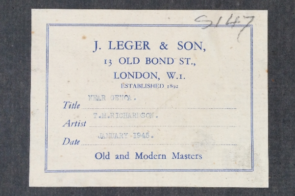 Label.Back.Near Genoa.T.M.Richardson.Jr.