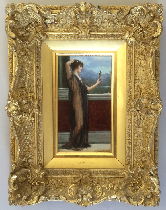 Lady in the mirror.Frame.Sidney Woods