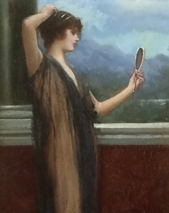 Lady in the mirror.Detail.Sidney Woods