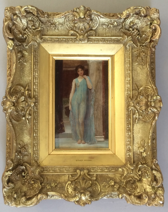 Lady in a negligee.Frame.Sidney Woods