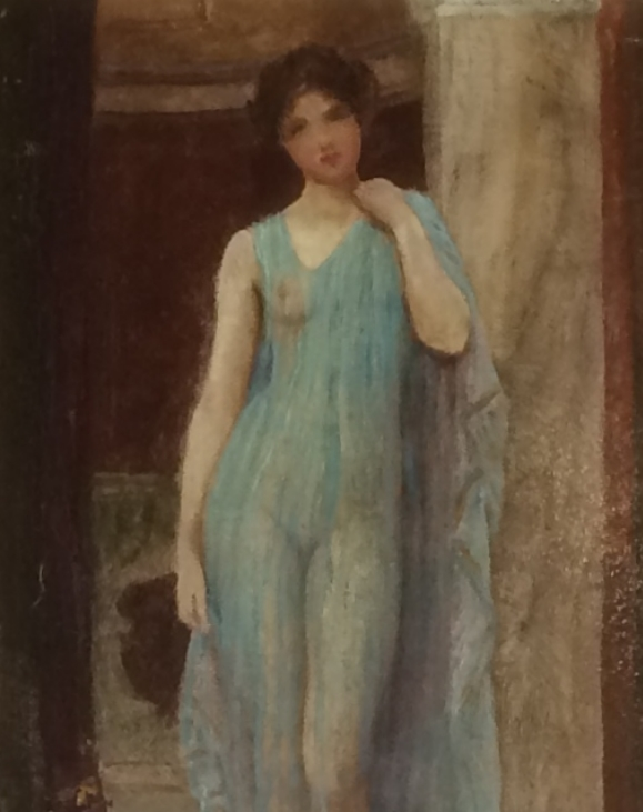 Lady in a negligee.Sidney Woods
