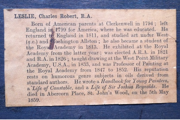 charles robert leslie.sailors in the hold.label