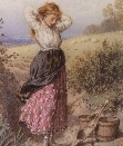 A Milkmaid at a Stream.M.B.Foster