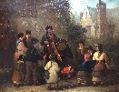E.R.Smythe. Organ Grinder Entertains