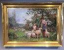 Mothe.Daughter.Sheep.Lambs.A.T.Haddon.Frame.