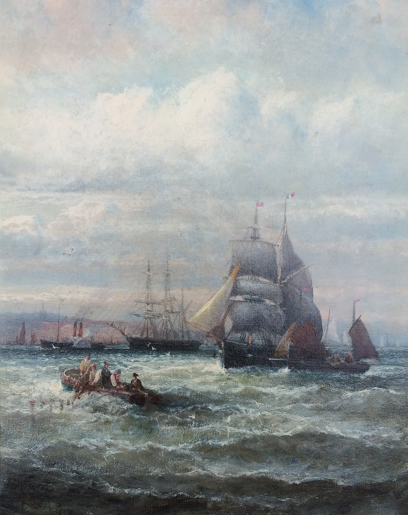 A busy shipping lane.W.Thornley